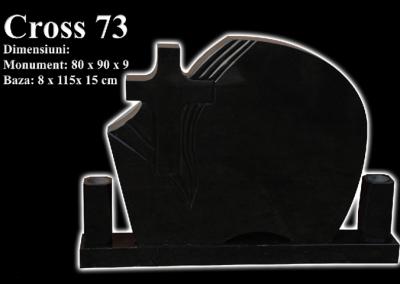 Monumente-granit-negru-cross-73