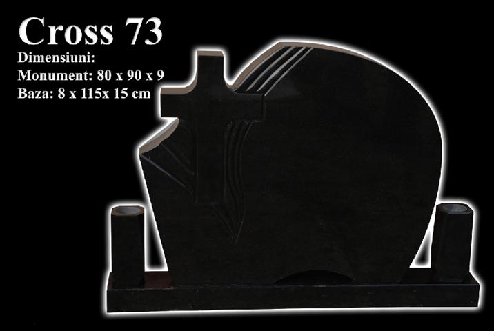 Monumente-granit-negru-cross 73