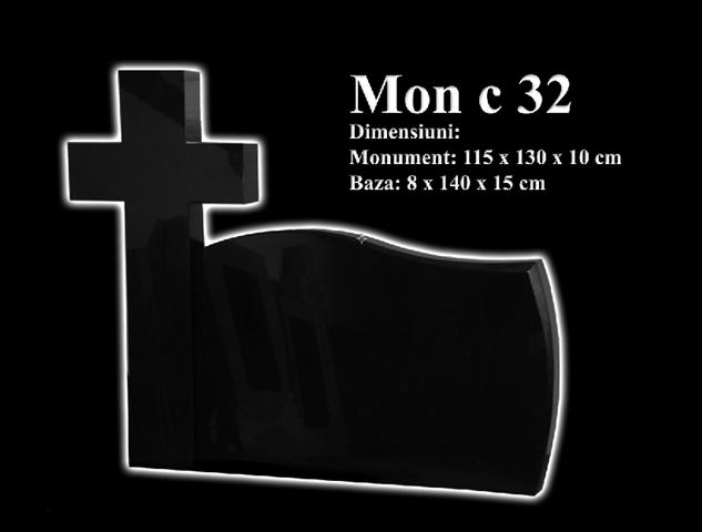 Monumente-granit-negru-mon c 32