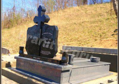 009 monument granit dublu negru