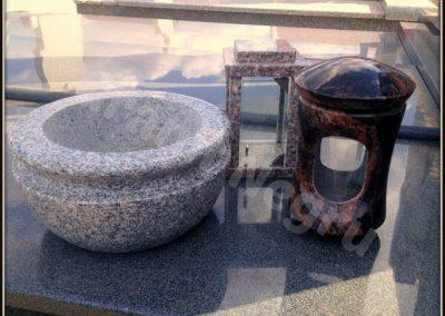 066 granit bol, vaza, felinar