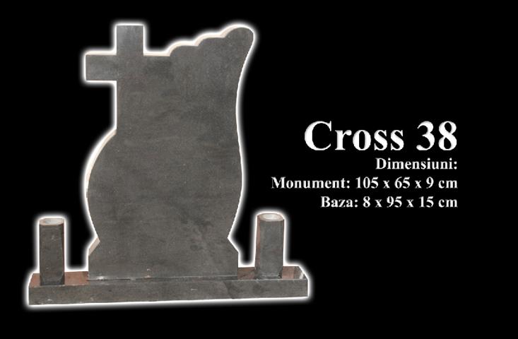 Monumente-granit-negru-cross 38