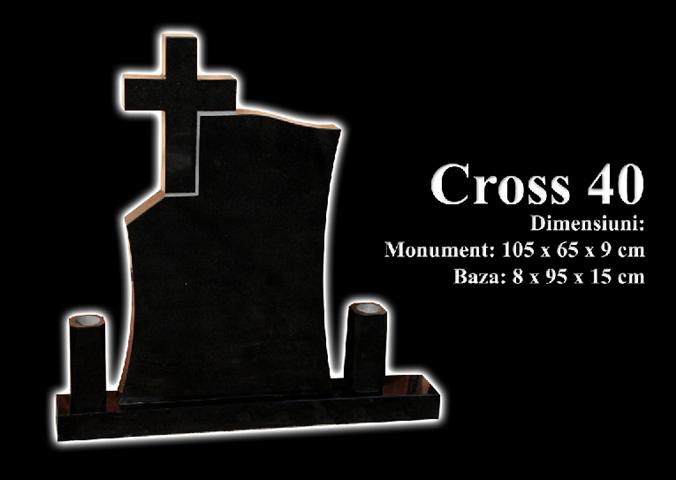 Monumente-granit-negru-cross 40