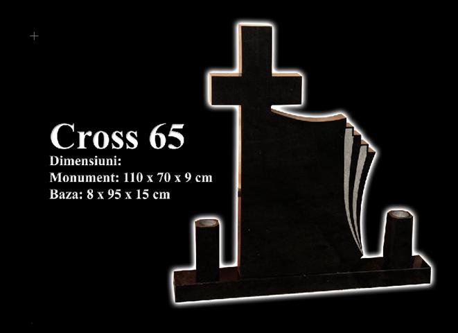 Monumente-granit-negru-cross 65