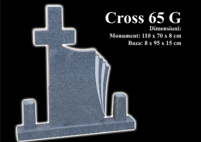 Monumente-granit-negru-cross-65g