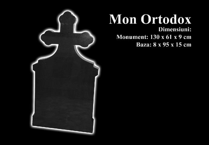 Monumente-granit-negru-mon ortodox